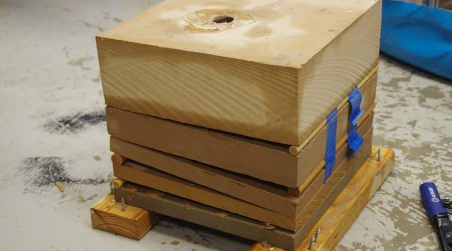 bock of wood - Drillbotics competition